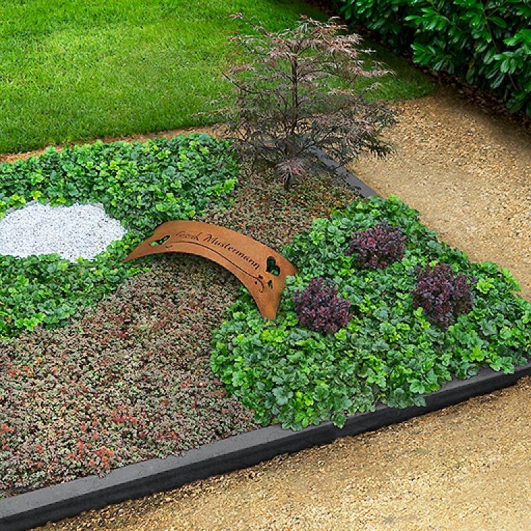 grabbepflanzung bodendecker pflegeleichte grabbepflanzung. Black Bedroom Furniture Sets. Home Design Ideas